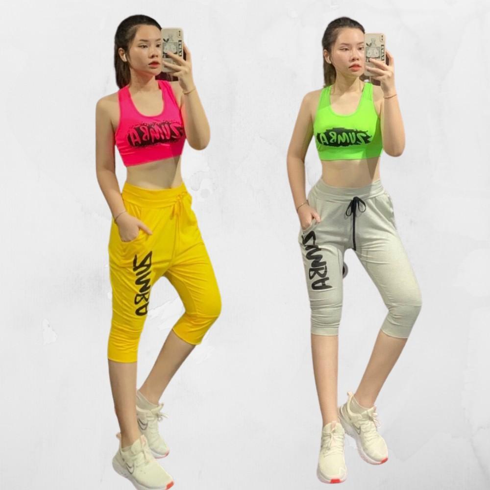 Mặc gì đẹp: Năng động với Quần Tập Zumba, Gym, Yoga Lửng  ⚡𝙈𝘼̂̃𝙐 𝙈𝙊̛́𝙄 𝘾𝘼𝙊 𝘾𝘼̂́𝙋⚡ kêt hợp áo Bra [CỰC HÓT] cho tập Gym, Zumba, Aero