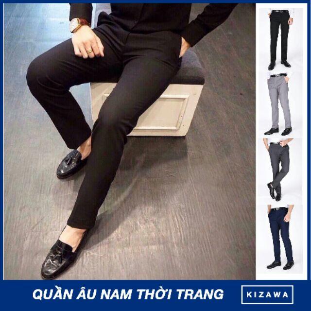 Quần âu nam Hàn Quốc quần tây nam ( quần vải ) cao cấp 3 màu soái ca vải đẹp chống nhăn, không bai k