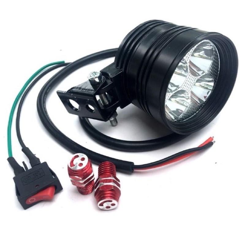 Đèn Led trợ sáng L4 ngắn 3 chế độ.Full phụ kiện,bảo hành 1 năm