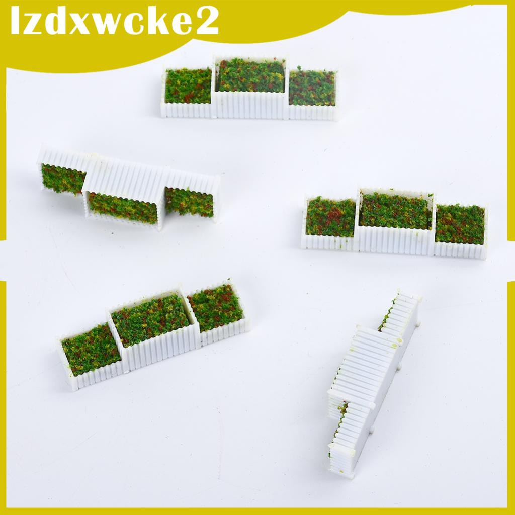 GamZine Lots 5 N Scale 1/150 Flower Beds Miniatures Model for Building Diorama Decor