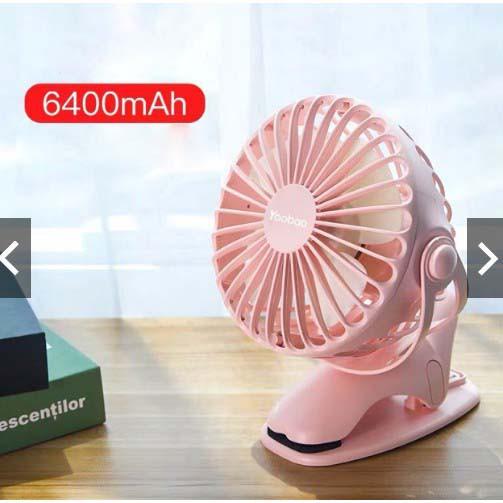 [ELHATOP11 giảm 9% tối đa 1TR5] Quạt tích điện dùng liên tục 32 tiếng Y-F04 6400mAh- Hàng chính hãng YOOBAO