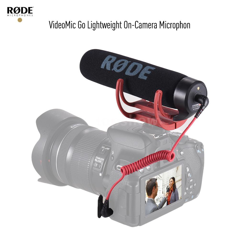 topshow RODE VideoMic Go Super Cardioid Directional Microphone Lightweight On-Ca