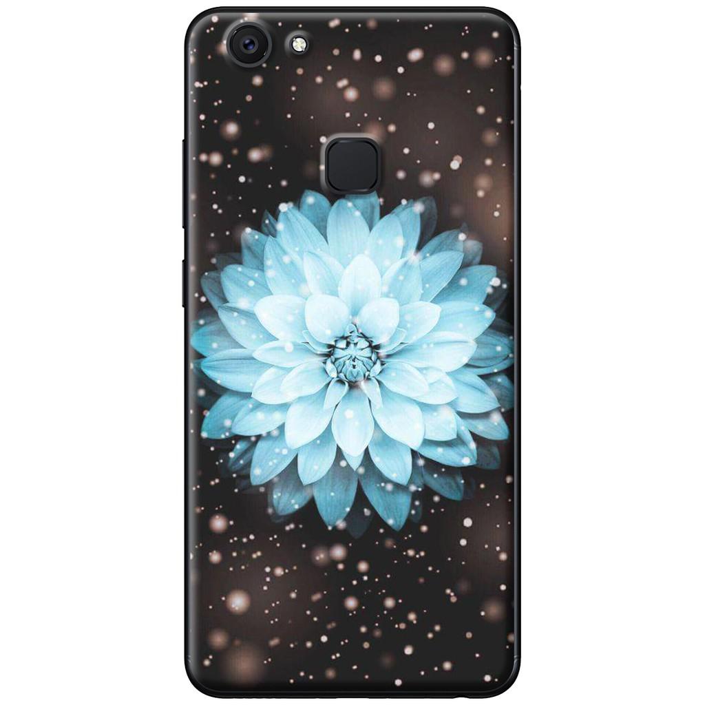Ốp lưng Vivo V7, V7 Plus - nhựa dẻo Hoa cúc xanh dương