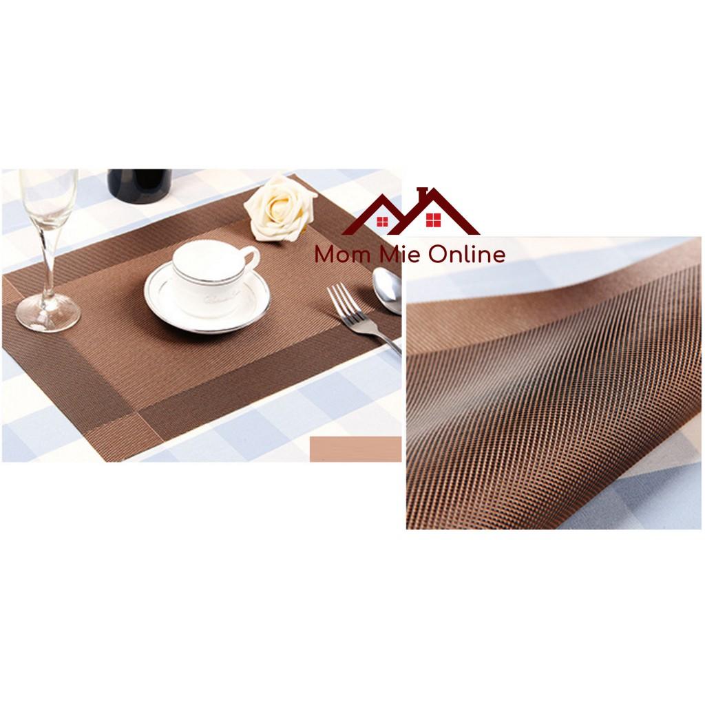 Tấm lót bàn ăn viền vuông - L003
