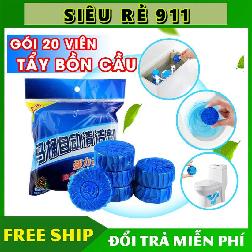 Gói 20 Viên tẩy bồn cầu khử mùi hôi 🚛Miễn Phí Ship️🚛 Tẩy vệ sinh bồn cầu