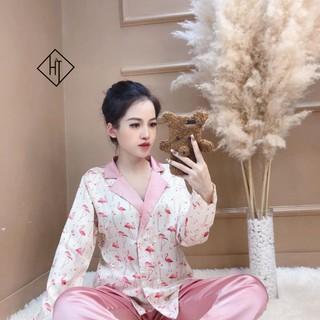 Đồ bộ pijama - Bộ mặc nhà lụa satin dài tay cao cấp mềm mịn, mát mẻ