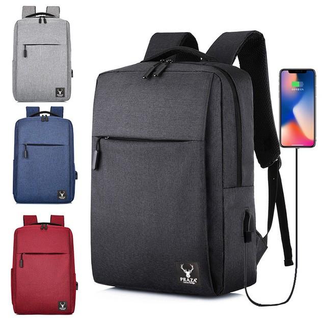 Ba Lô Laptop Tích Hợp USB Cao Cấp PRAZA - BL174
