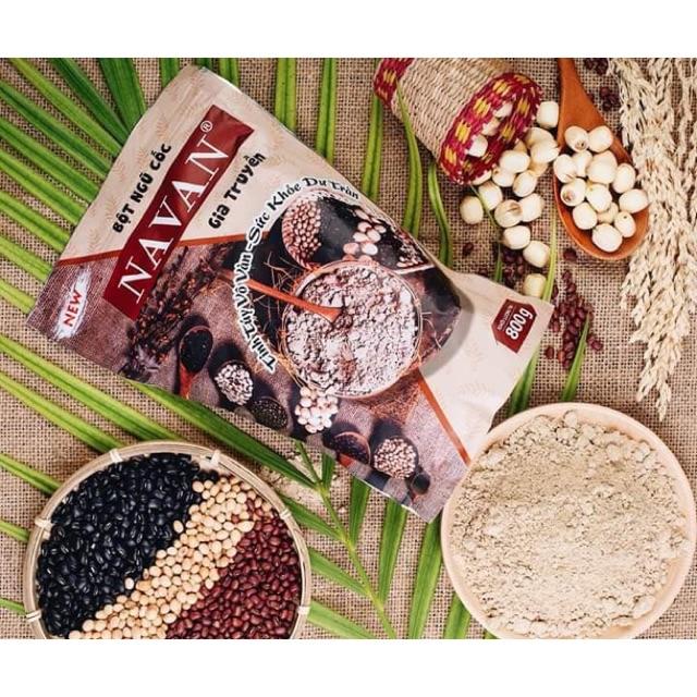 Ngũ cốc dinh dưỡng Navan 7 vị hạt đậu ( gói 800g) Ngũ cốc dinh dưỡng Navan 7 vị hạt đậu ( gói 800g)