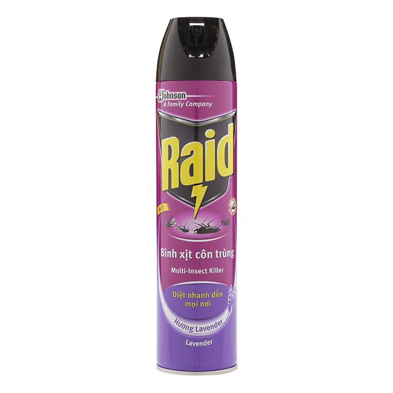 Xịt côn trùng Bình xịt côn trùng Raid hương Lavender 600ml