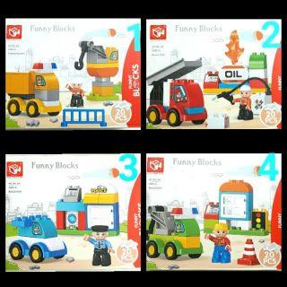 """Bộ lego lắp ghép trạm xe """"Kid home toys"""" tương thích duplo"""