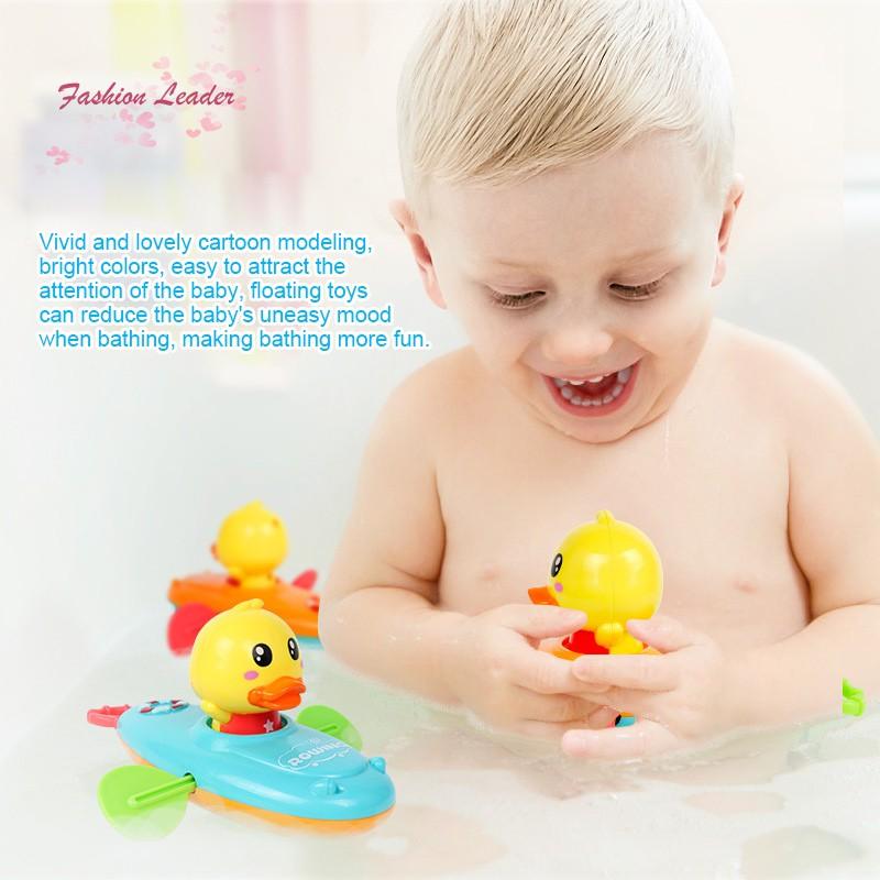 Windup Water Toy Rowing Boat Cartoon Animal Boating Baby Kid Shower Bath Toy
