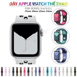 [Mẫu mới 2020] Dây Đeo Apple Watch Cao Su Thể Thao Series 5|4|3|2|1 kích thước 38mm 40mm 42mm 44mm