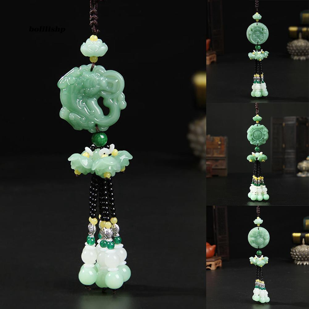 BLLP_Chinese Lucy Mythical Animal Car Rear View Mirror Hanging Ornament Decoration