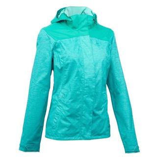 Decathlon QUECHUA Áo khoác chống thấm leo núi vùng cao MH100 cho nữ Ngọc lam đốm thumbnail