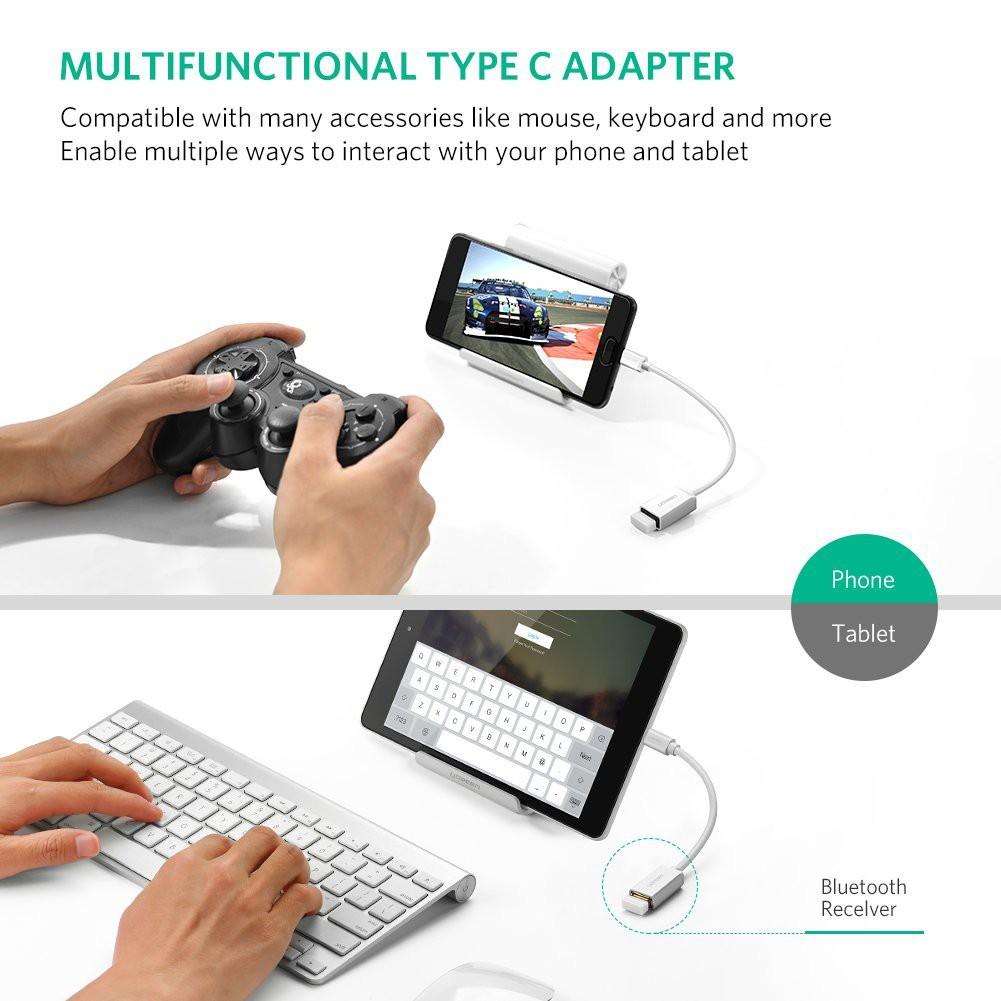Cáp Type-C to USB 2.0 chính hãng Ugreen 30176 ( 2 màu)