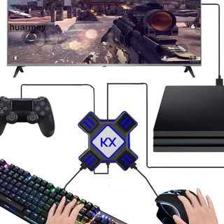 HU KX USB Game Controller Converter Keyboard Mouse Adapter for Switch Xbox PS4 PS3 thumbnail