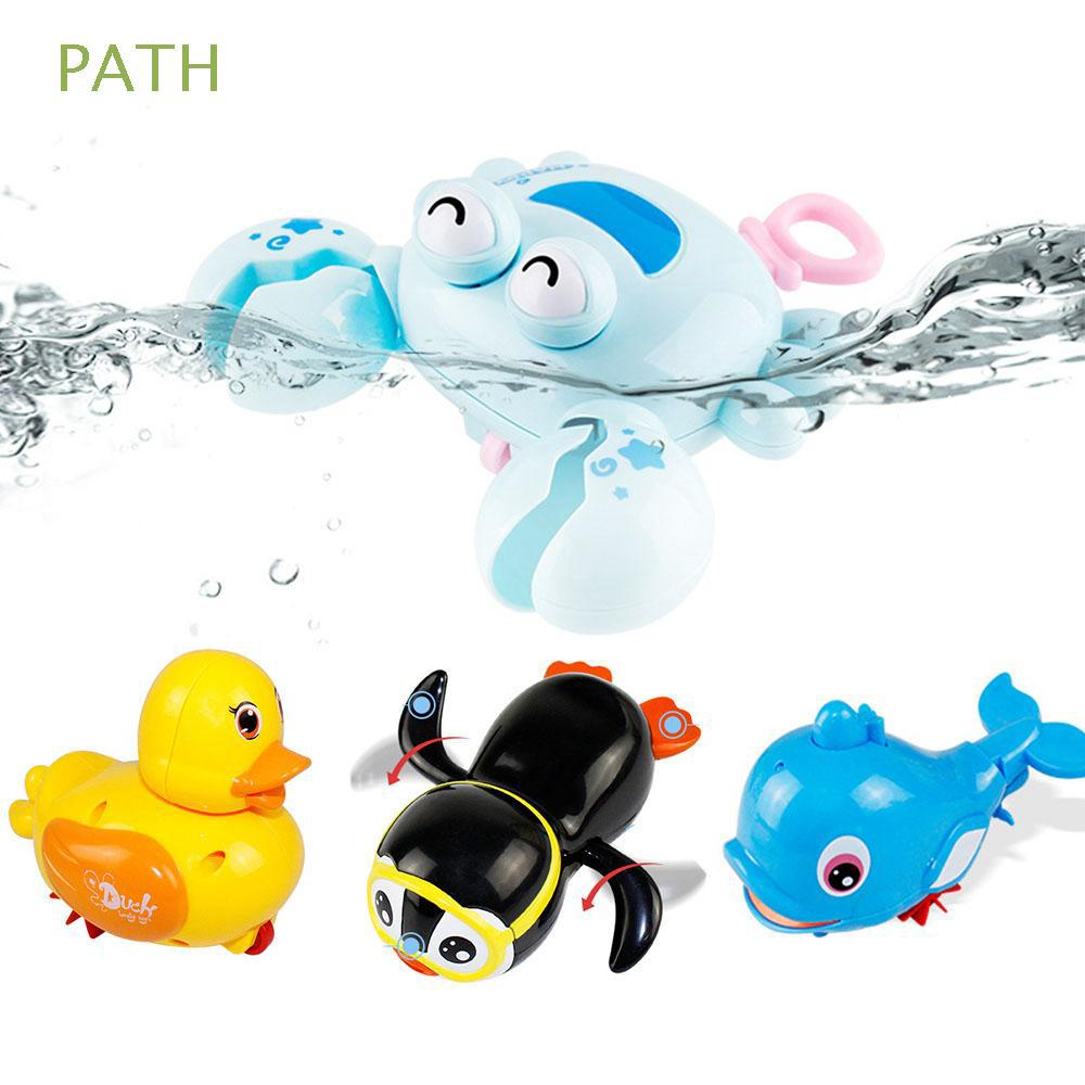 1pcs Random Color Kids Gift Beach Clockwork Crab Dolphin Wind Up Bath Water Toy