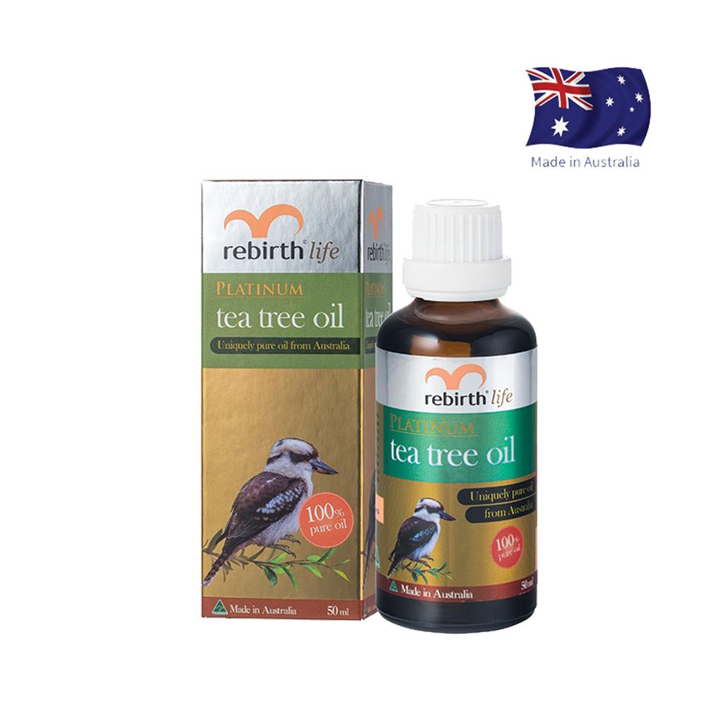 Tinh dầu tràm trà giảm mụn Rebirth Life Platium Tea Tree Oil (50ml)