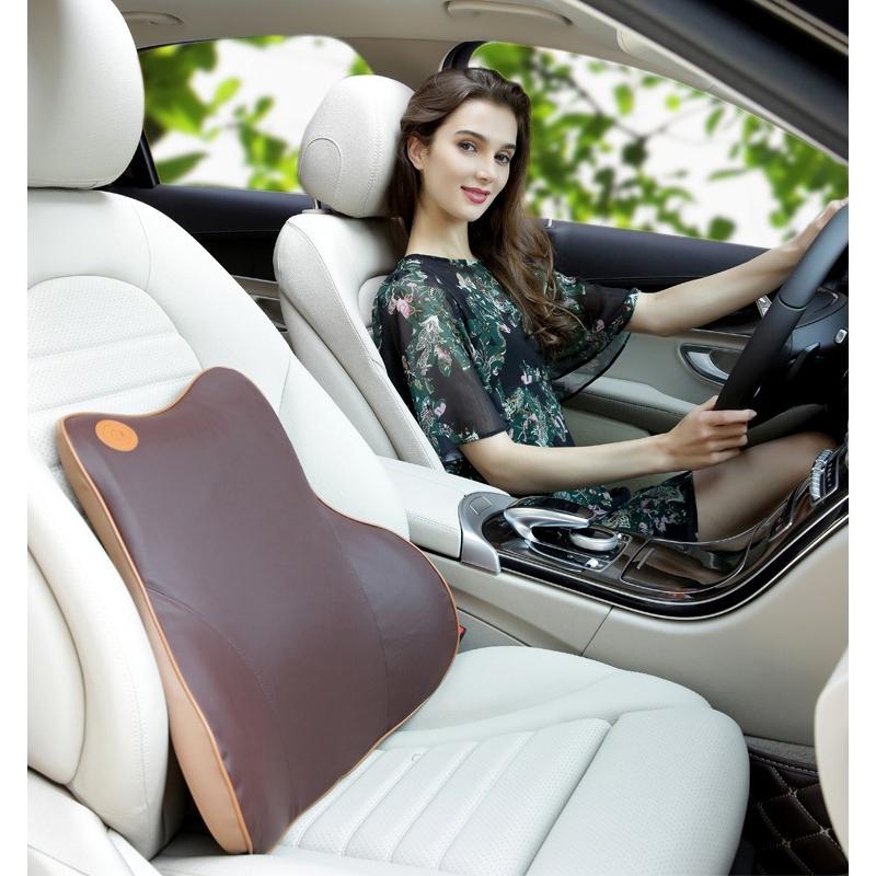 gối tựa lưng vải cotton cho ghế xe hơi