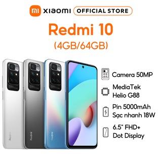 Điện thoại Redmi 10 4GB 64GB - Bốn camera AI 50MP Màn hình 90Hz FHD+ thumbnail