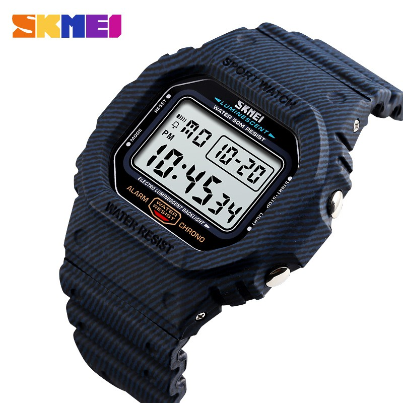 SKMEI 1471 Men LED Digital Watch 50m Waterproof Sports Watch