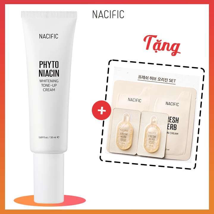 [GIÁ RẺ NHẤT] Kem dưỡng trắng da NACIFIC Phyto Niacin Whitening Tone-up Cream 50ml + Tặng Sample Kit