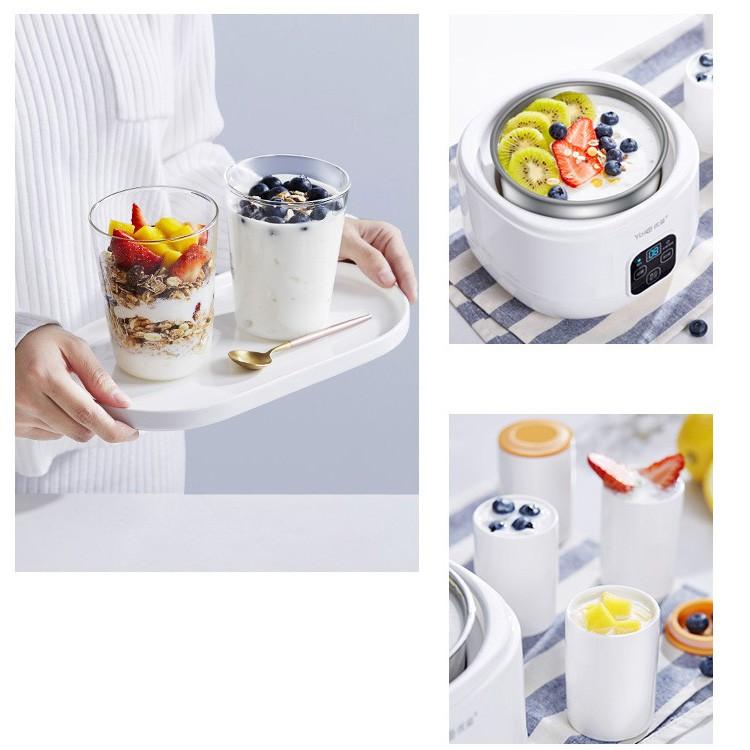 Máy làm sữa chua Lock & Lock Yogurt Maker 1L, 220V, 50Hz, 15W - Màu trắng EJY211