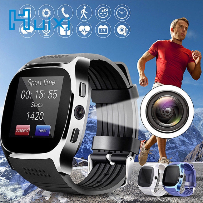 Bluetooth Smart Watch Phone Mate SIM FM Pedometer for Android IOS iPhone Samsung DR