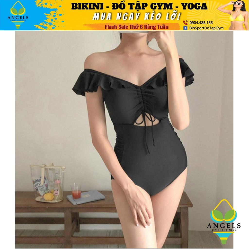 Bikini,Bộ Đồ Bơi Body Trễ Vai Đen,Hàng Nhập Đủ Size M L XL, BHN014