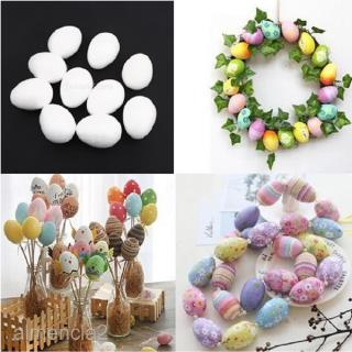 10Pcs Decor Eggs Easter Art Craft Decoration Polystyrene Foam Paint DIY 8cm