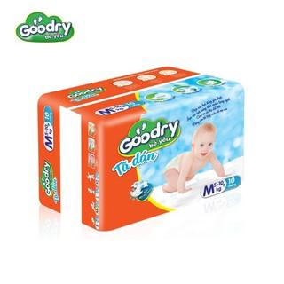 Tã dán Goodry M10 công nghệ Nhật Bản màng đáy thoáng khí (Cho bé từ 6-10kg)