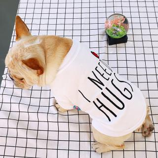 ◕‿◕NL I Need Hugs Dog Vest Cute Design Small Puppy Teddy Dog Cotton Clothes