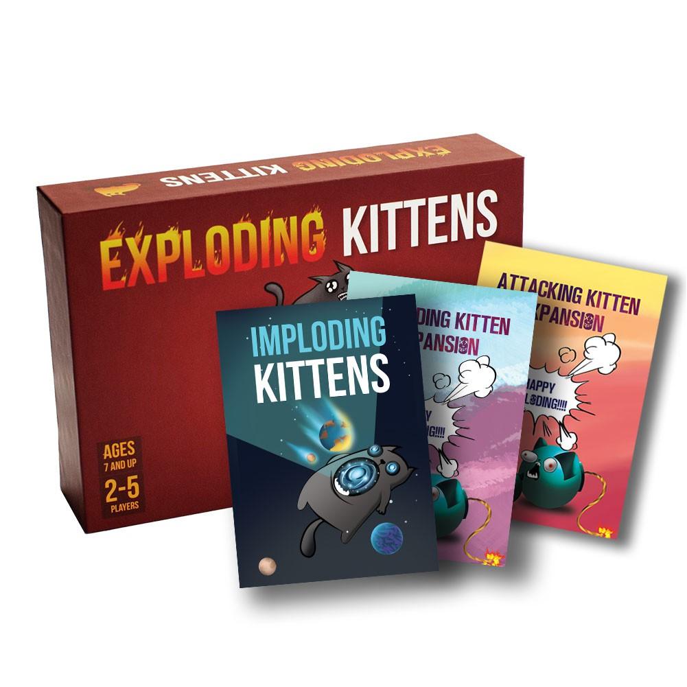 Combo Mèo nổ Exploding Kittens cơ bản + 3 bản mở rộng