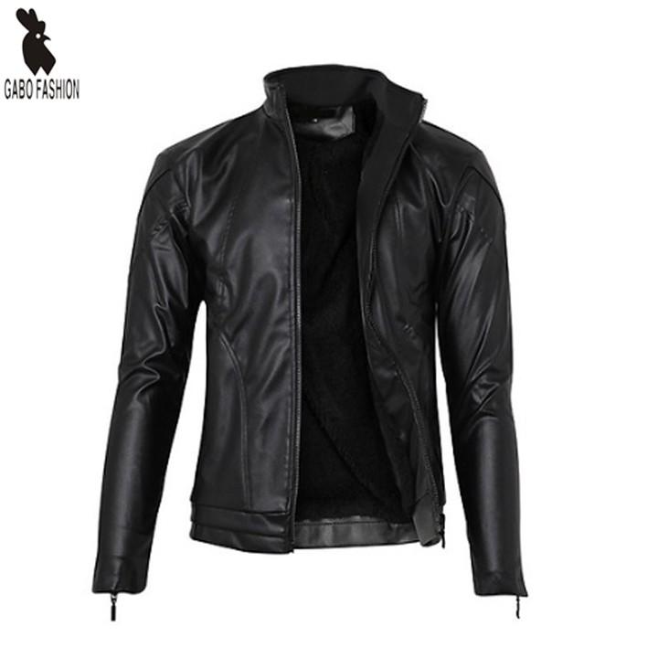 Áo khoác da nam lót lông cao cấp Gabo Fashion AKD118