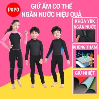 Bộ lặn dài tay liền thân dày 2,5mm cho trẻ em giữ ấm cơ thể POPO giúp chống nắng, giữ nhiệt an toàn cho bé SPORTY thumbnail