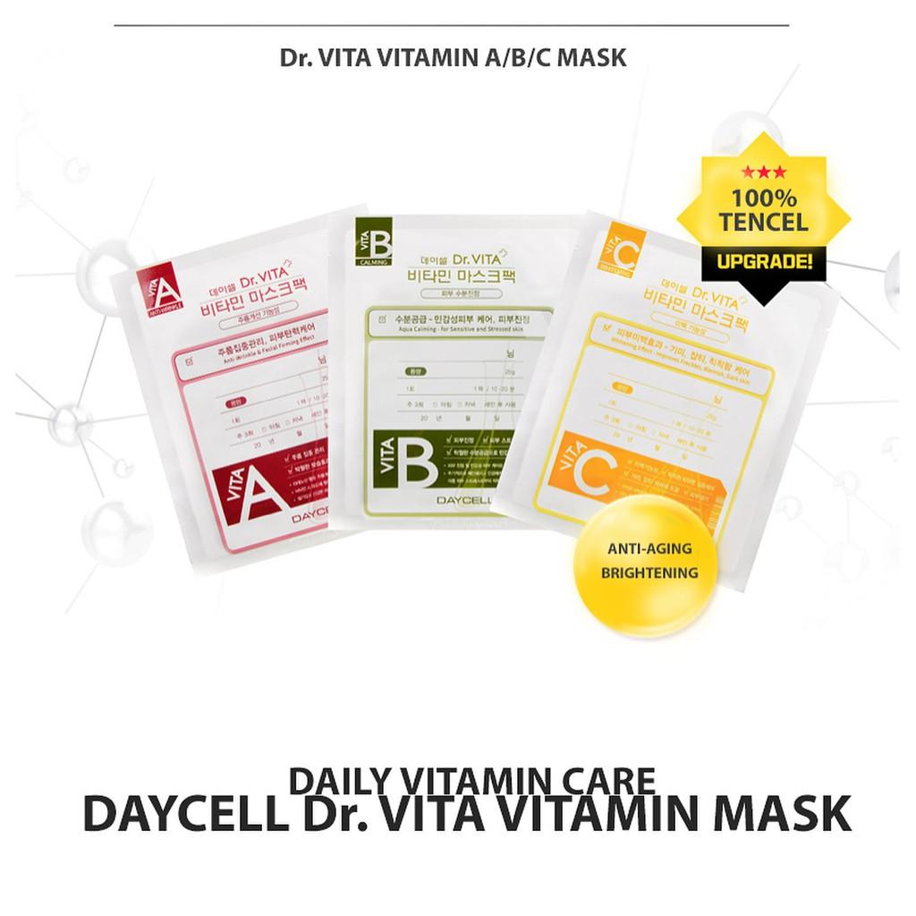 Lẻ 01 miếng mặt nạ tinh chất đặc trị Dr Vita Mask Pack Daycell