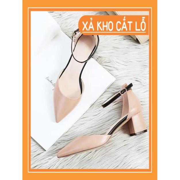 XẢ LỖ -  Giày cao gót da mềm 7cm size 35-40 (msp