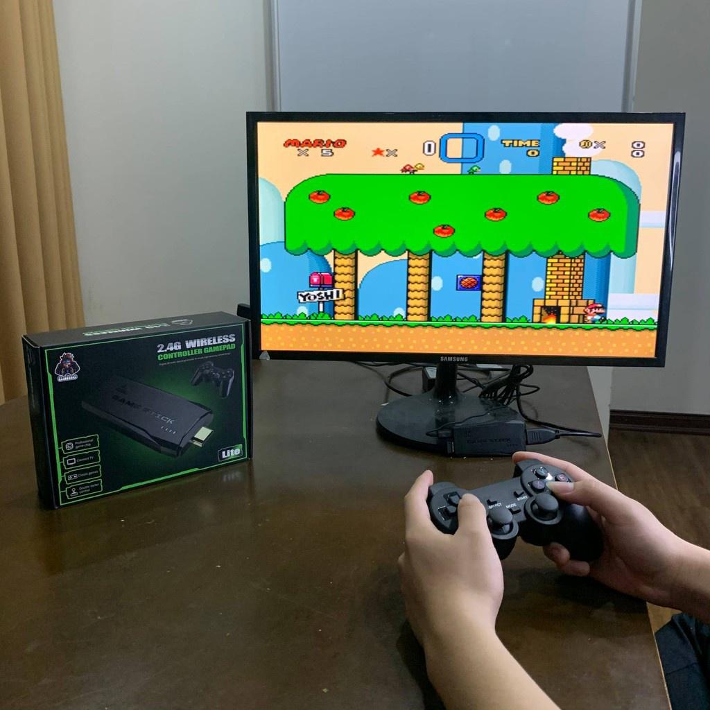 ◅⊕Máy chơi game 4 nút cầm tay không dây cổng HDMI giá rẻ 3500 game cổ điển  PS1/Nitendo switch/FC Compact/FC