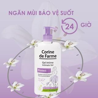 Gel vệ sinh phụ nữ Corine De Farme Intimate gel Protect 250ml Làm Sạch Và Giảm Cảm Giác Khó Chịu Vùng Kín 6