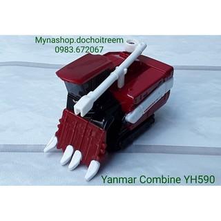 Xe mô hình tomica – Yanmar Combine YH590 (xe công trình, màu đỏ đậm)