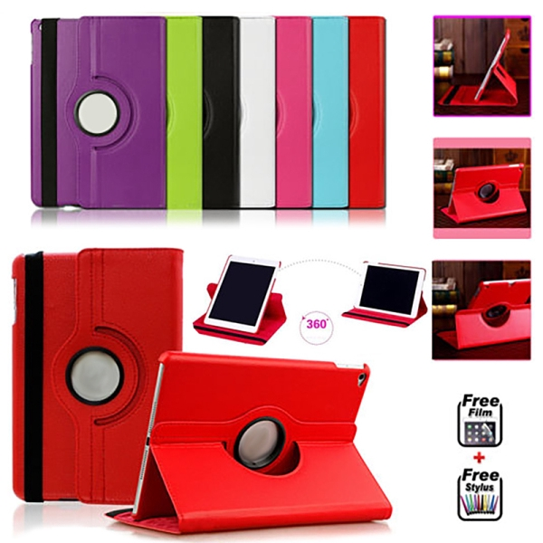 360 Degree Rotating Stand PU Leather Case Cover for Apple iPad2 iPad3 iPad4