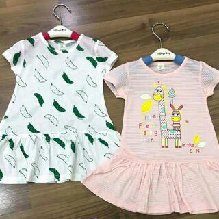 Chọn màu-Combo 4 váy - áo váy xuất Hàn bé gái