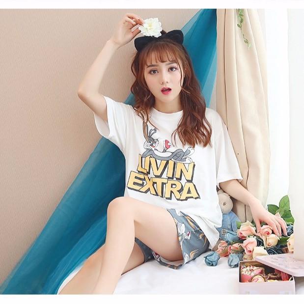 bộ đồ ngủ hình thỏ xinh xắn dành cho nữ - 15057047 , 2835005655 , 322_2835005655 , 284400 , bo-do-ngu-hinh-tho-xinh-xan-danh-cho-nu-322_2835005655 , shopee.vn , bộ đồ ngủ hình thỏ xinh xắn dành cho nữ