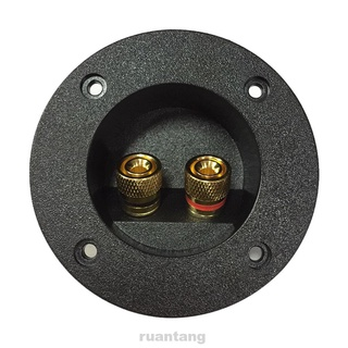 Round Spring DIY Accessories Plate Recessed Home Car Terminal Block Binding Post Cup Connector Speaker Junction Case
