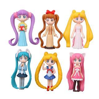 #ReadyStock# 6Pcs/set Sailor Moon School Supplies Doll Gift For Kid Toys