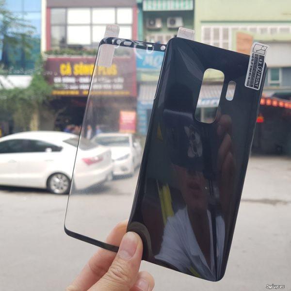 Dán dẻo full keo hai mặt trước sau GALAXY S9/S9 Plus nhiều màu