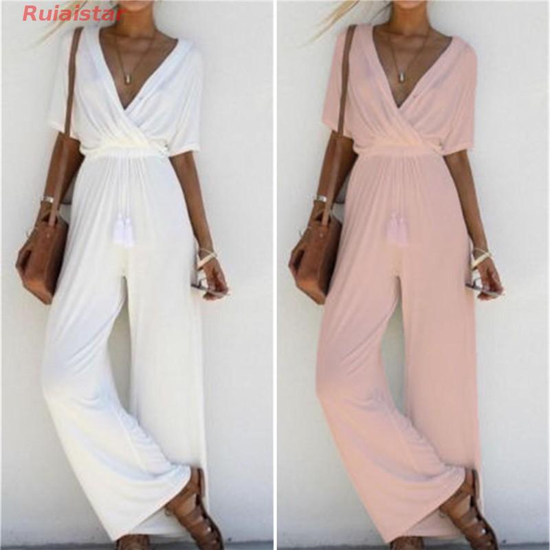 1615247712 - Jumpsuit tay ngắn cổ V thời trang dành cho nữ đầm rộng đầm tay dài váy suông đầm chấm bi đầm boho đầm lolita váy lép