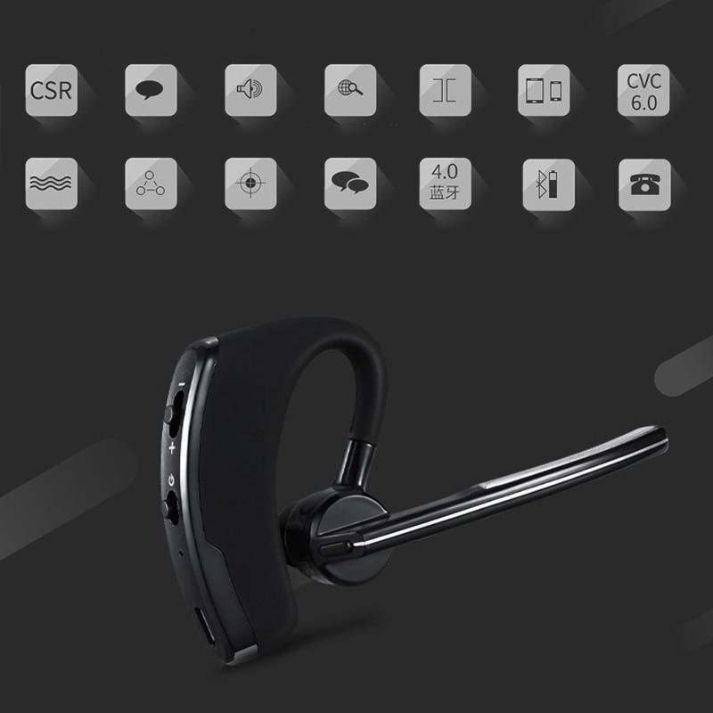 V8 Wireless Bluetooth Earphone Business Stereo Headset Handsfree Headphones With Mic