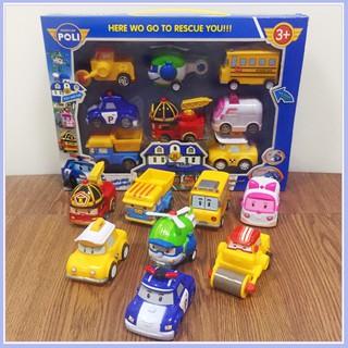 Hộp 8 xe ô tô đồ chơi Poli an toàn cho bé