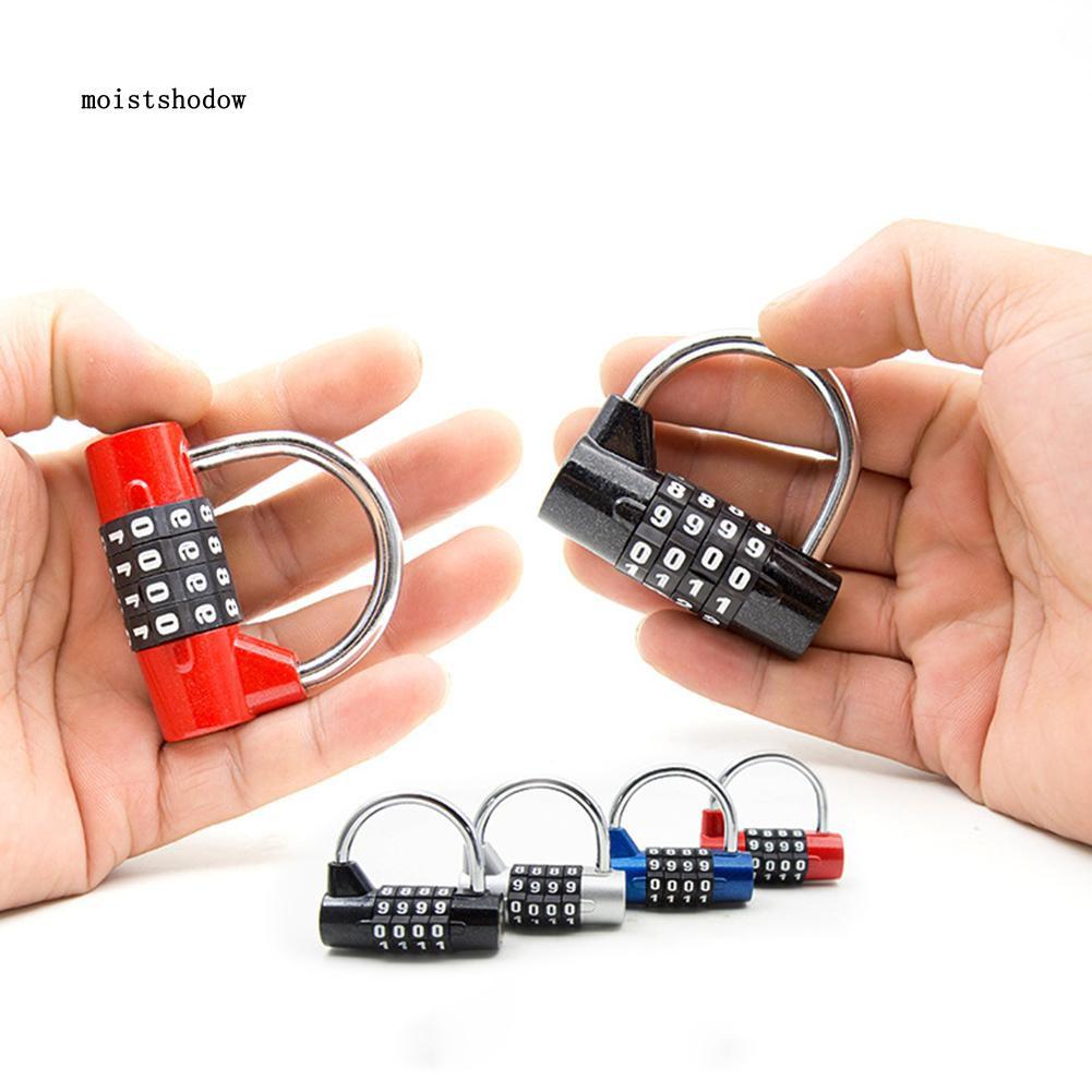 4 Digit Password Combination Lock Security Luggage Cabinet Toolbox Padlock
